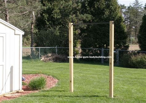 backyard gymnastics homemade outdoor pullup bar