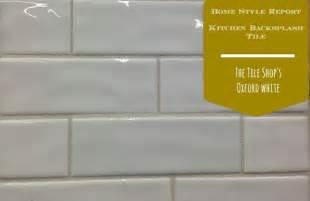 wavy backsplash the tile shop oxford white 2x6 subway tile love the wavy handmade appearance chez thompson