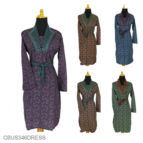 baju batik sarimbit dress motif capocinno warna obral