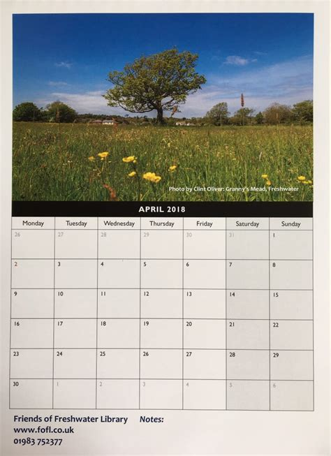 Calendar 2018 Uk For Sale New 2018 Calendar On Sale Friends Of Freshwater Library