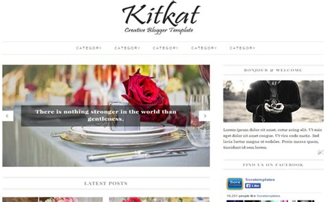 kitkat beauty blogger template blogger templates gallery