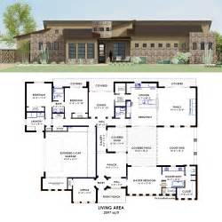 pics photos courtyard house plan modern plans contemporary