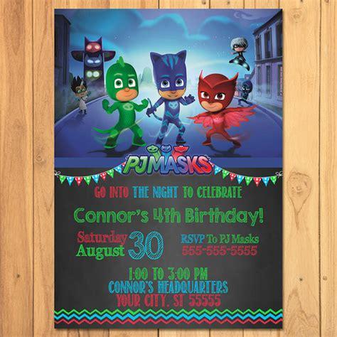 pj masks invitation chalkboard pj masks birthday pj masks