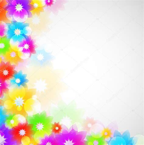 colorful floral design background illustrator vector colorful flower design stock vector 169 hollygraphic 8714370