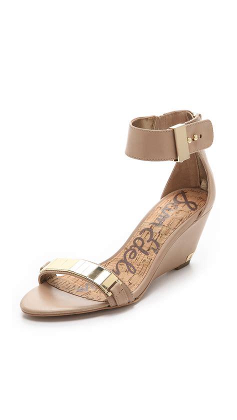 sam edelman shoes lyst sam edelman serena wedge sandals in