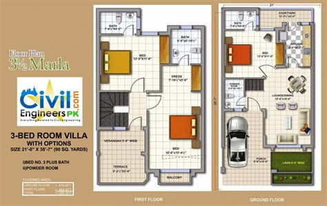 plan for houses 3 marla house plans civil engineers pk
