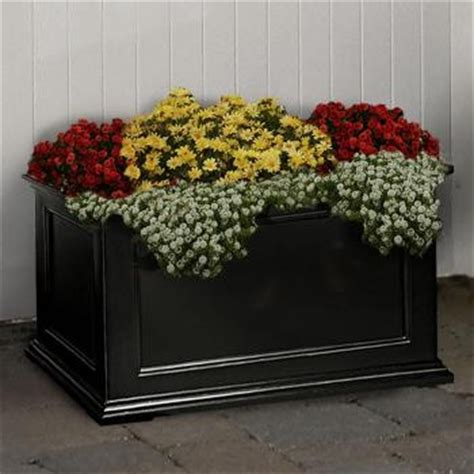 36 Inch Outdoor Planters Fairfield Sub Irrigated Patio Planter In Black 36 Inch