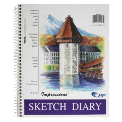 Cpp Calendar Cpp International Impressions Sketch Diary 70 Sheets