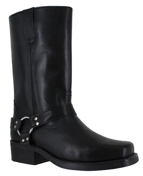 mens black leather cowboy boots gringos harley mens black leather high biker cowboy
