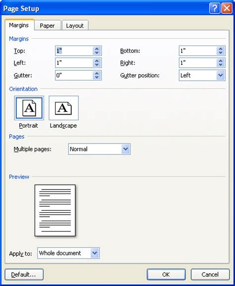 web layout view office 2007 change default page setup introduction 171 introduction