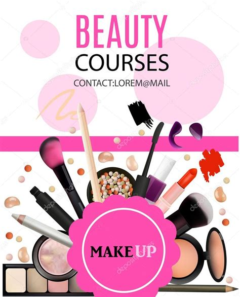 design poster cosmetic beauty courses poster design cosmetic products