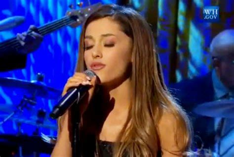 ariana grande tattooed heart obama video ariana grande performs at the white house s women