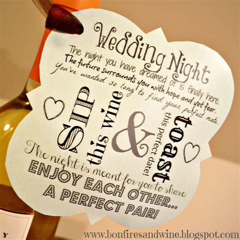 Wedding Gift Ideas Wine by Bonfires And Wine Diy Wine Wedding Gift