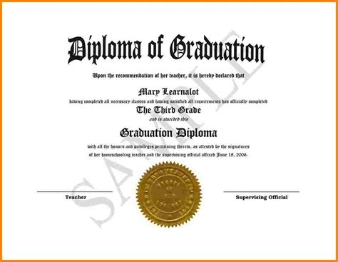 school diploma template high school diploma sle pictures to pin on