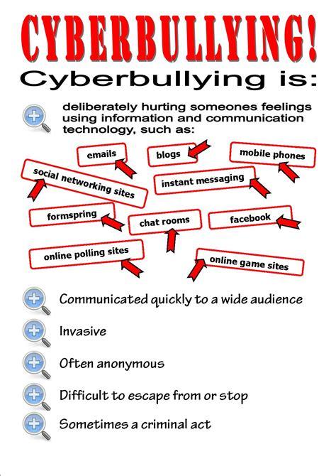 printable bullying quiz worksheet cyber bullying worksheets hunterhq free