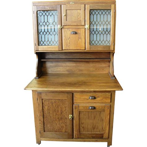 antique kitchen furniture antique boone oak 2 piece kitchen cabinet from