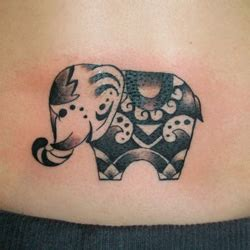 tribal elephant tattoos