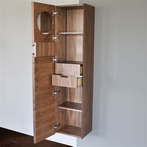 Bathroom Cabinets With Shelves Lacava Luce Floatingtall Storage Cabinet Modern Bathroom Cabinets And Shelves Other By