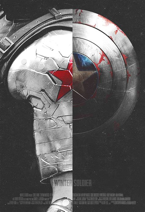 captain america winter soldier wallpaper shield captain america winter solider poster design fanart
