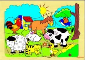 Puzzle Kecil Sapi puzzle gambar stiker puzzle safari hewan ternak