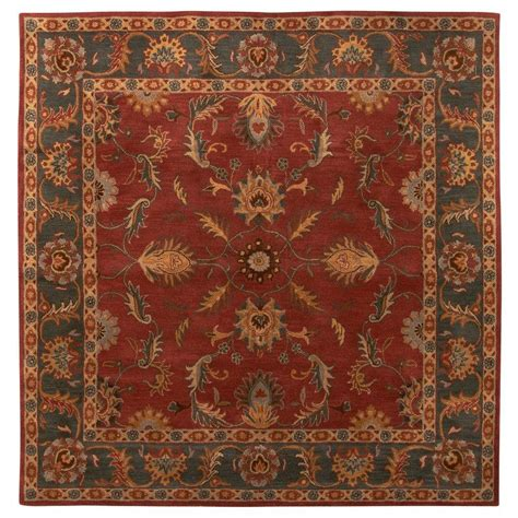 8 x 8 rug square home decorators collection aristocrat rust 8 ft x 8 ft square area rug 0167580110 the