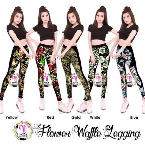 Celana Wanita Flower flower legging legging celana senam celana