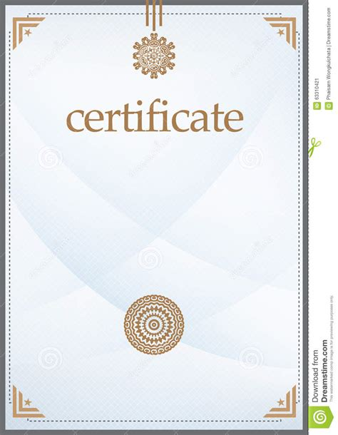 certificate template stock vector image 63310421