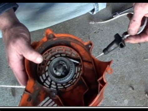 how to replace a l cord how to replace pull cord stihl blower funnycat tv