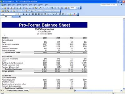 Proforma Balance Sheet Free Proforma Balance Sheet Template Pro Forma Balance Sheet Template