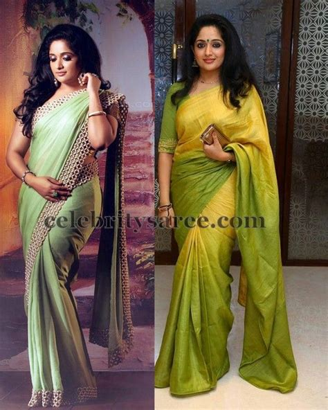 P Blouse Kyoko Kotak Blue kavya madhavan traditional saris saree blouse patterns