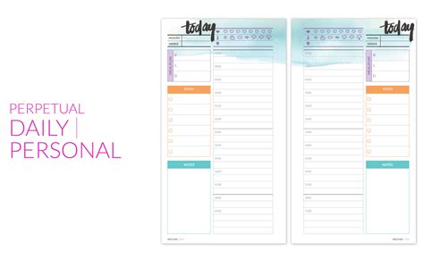 printable planner pages personal printables perpetual planner pages a bloggism
