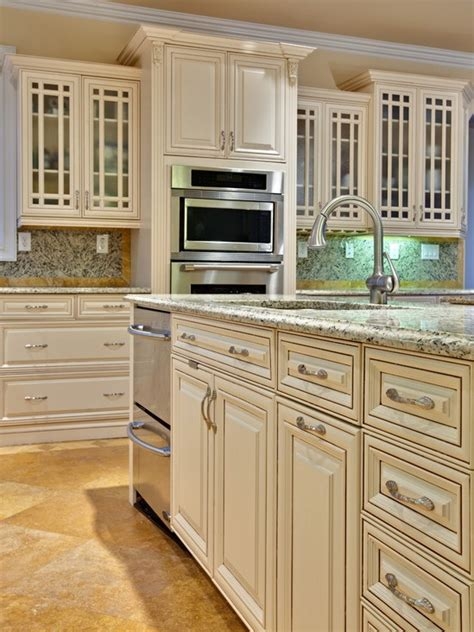 ivory white kitchen cabinets painted glazed cabinet doors angel s house pinterest