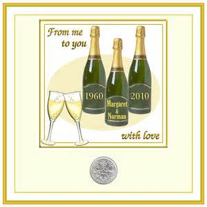 husband 50th golden wedding anniversary cards