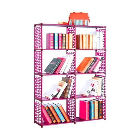 Rak Buku 2 Sisi Portable Serbaguna jual gogo model rak buku portable serbaguna pink 2 sisi