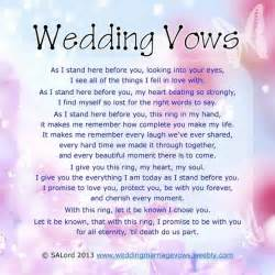 vow template wedding vows sle marriage vow exles
