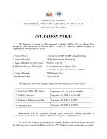 Invitation To Bid Letter Template by Invitation To Bid
