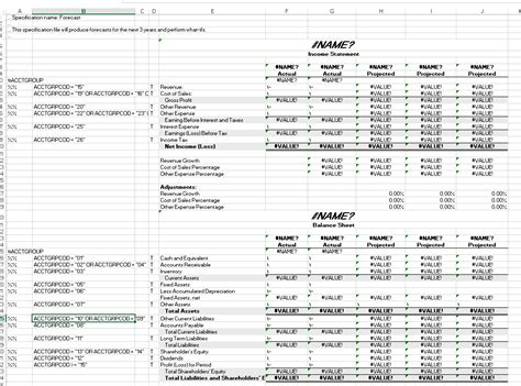 forecasted income statement template on spec getting to the sle financial statements