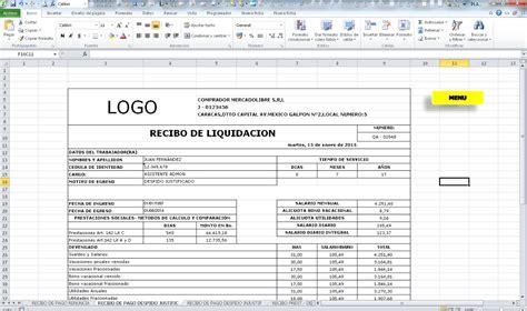 calculo de liquidacin en excel 2016 tabla para calcular liquidacion en excel plantilla en