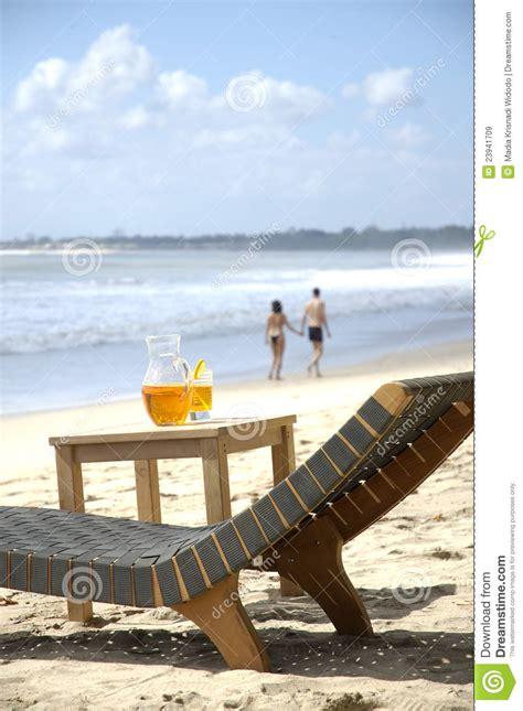 beach chair  table stock image image  chair beach