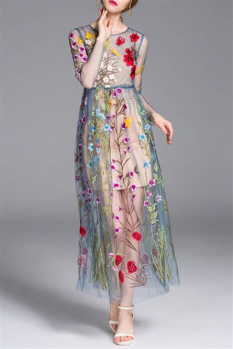 Flowers Embroidery Dress 25 best ideas about embroidery dress on