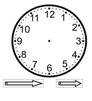 printable clock face with seconds a clock template that can be used as a craft with the