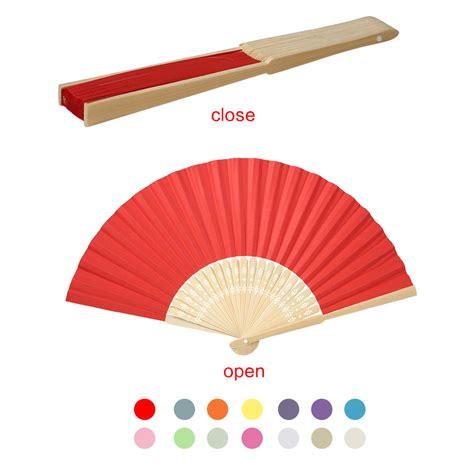 hand held folding fans hand held mini fan folding bamboo chinese paper fans