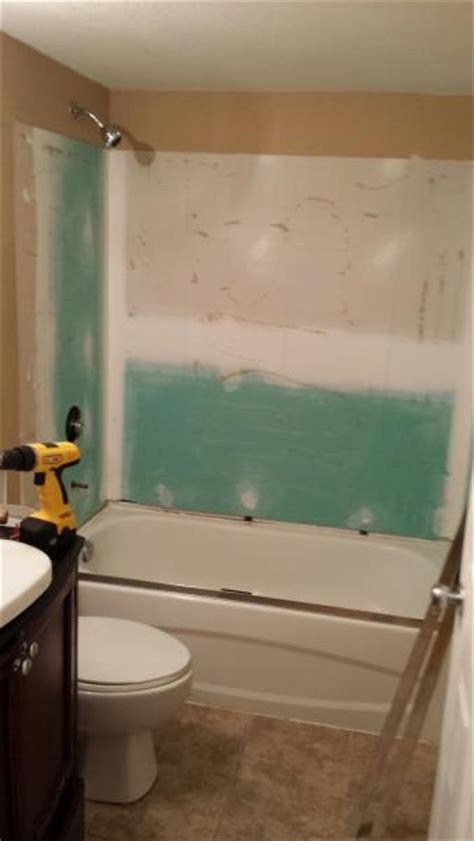 type of drywall for bathroom bathroom backsplash drywall gap doityourself com