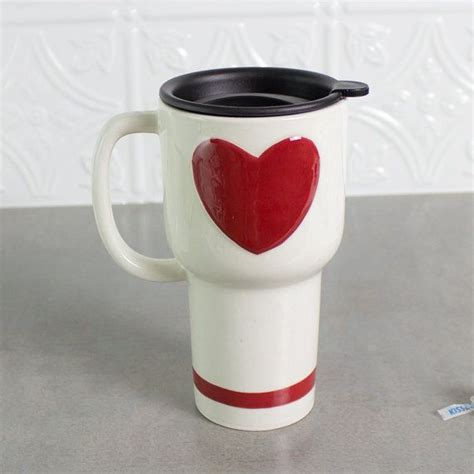 ceramic coffee travel mug handle by blueroompottery on etsy 17 best images about valentine s on pinterest ceramics