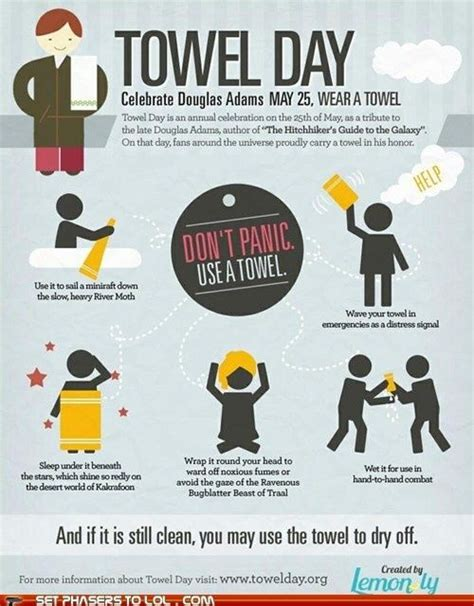 Hitchhikers guide to the galaxy happy towel day