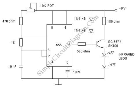 tv remote jammer 1n4148 circuit diagram world