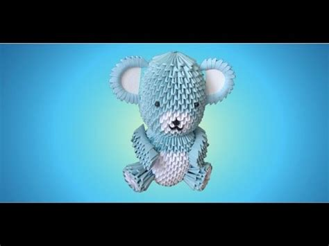 3d origami teddy bear tutorial 3d origami teddy bear tutorial part 2 youtube