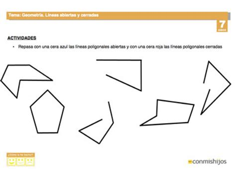 preguntas cerradas y abiertas pdf l 237 neas abiertas y cerradas ficha de geometr 237 a para ni 241 os