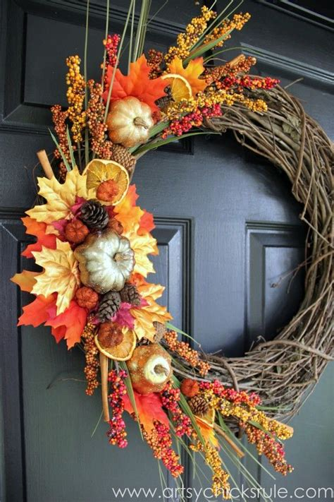 diy fall wreaths front door 9 diy fall wreaths to warm up your front door page 2