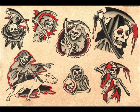 grim reaper tattoo flash ideas tattoo collection